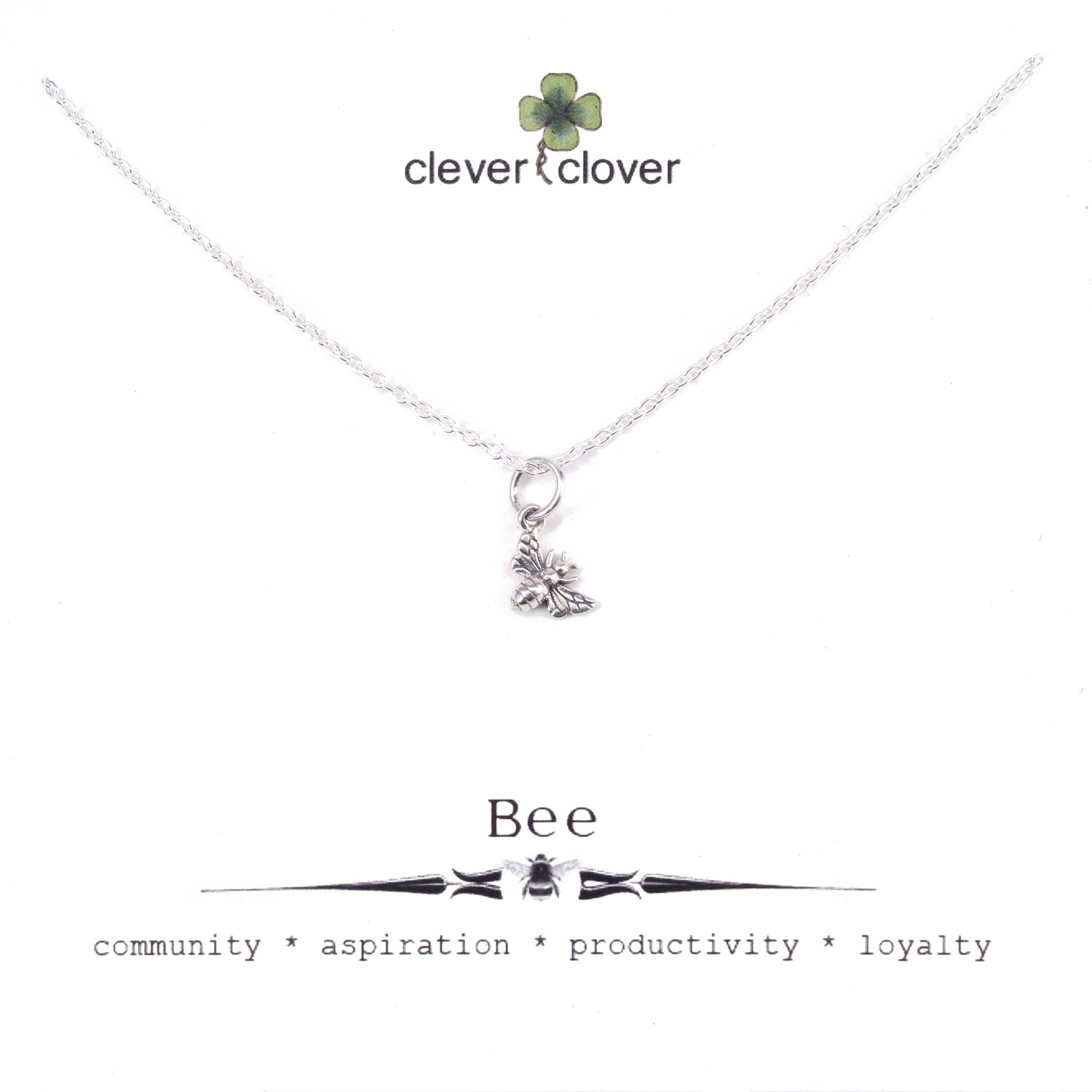 SSN6007 Sterling Silver Tiny Honey Bee Necklace