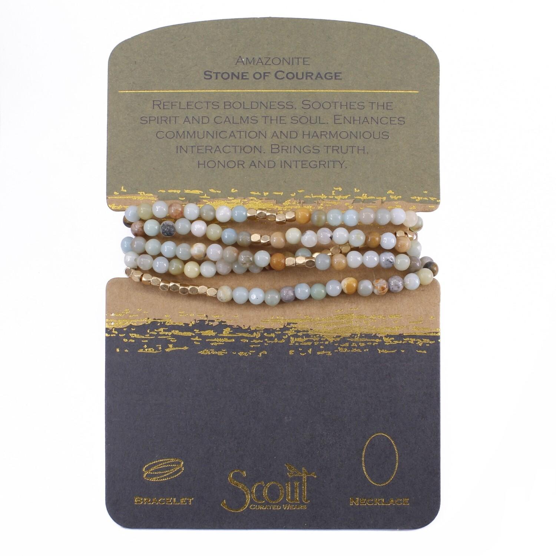 SW004 Stone Wrap Bracelet/Necklace - Amazonite