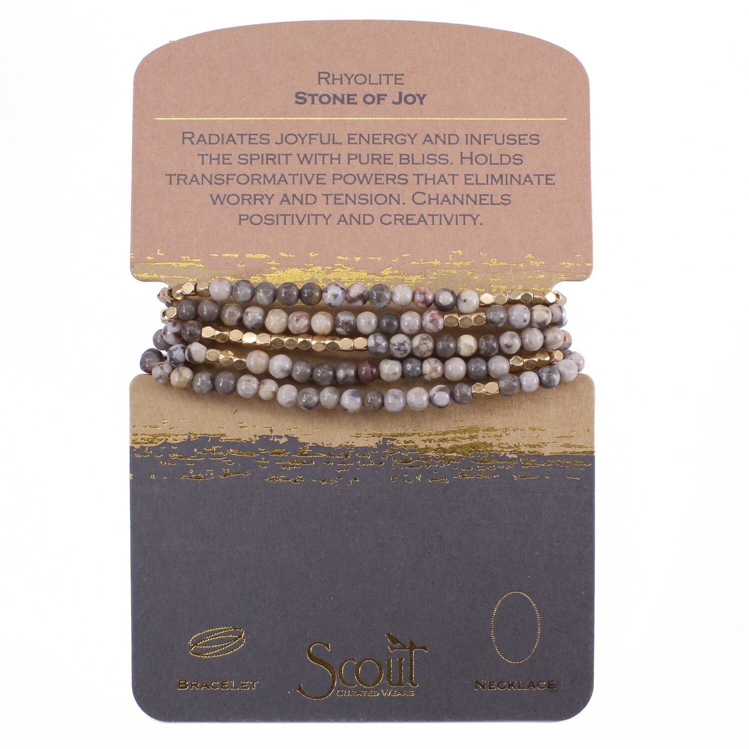 SW035 Stone Wrap Bracelet/Necklace - Rhyolite
