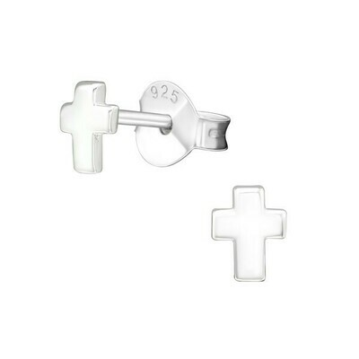 P29-21 Sterling Silver Tiny Cross Posts