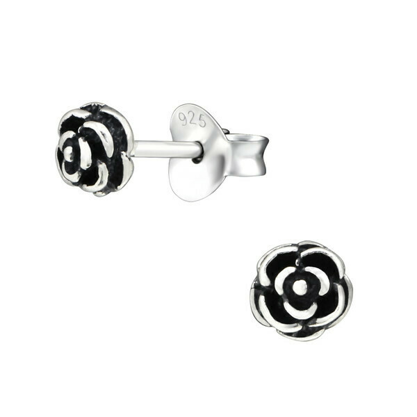 P29-19 Sterling Silver Rose Posts
