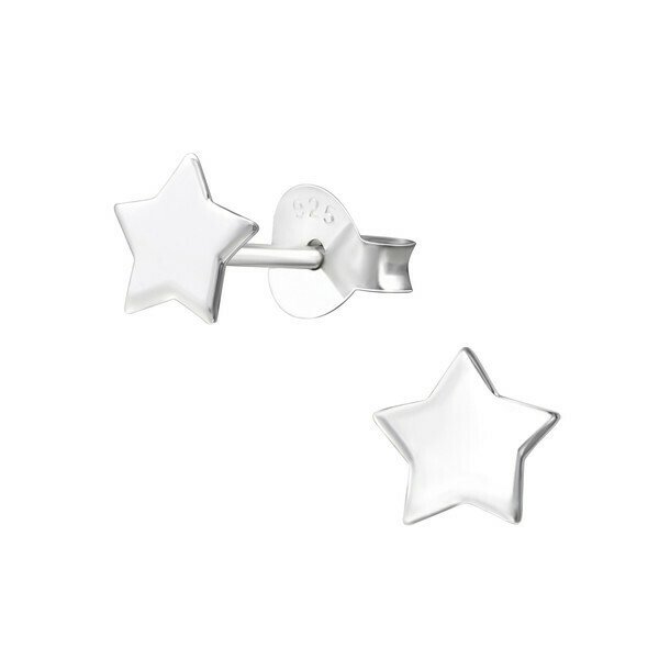 P37-1 Sterling Silver Star Posts