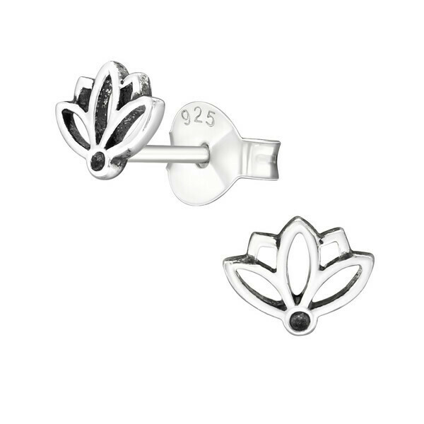 P37-34 Sterling Silver Little Lotus Posts