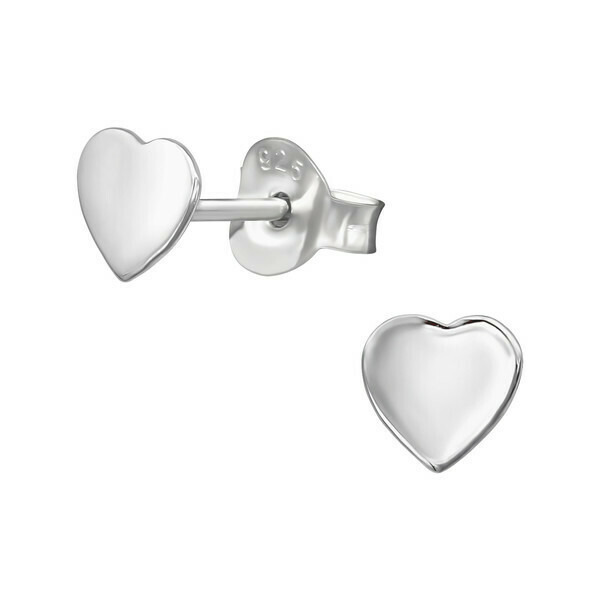 P38-5 Sterling Silver Heart Posts