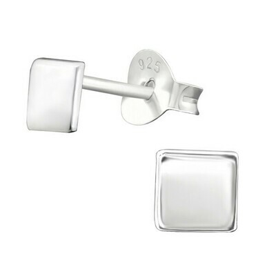 P38-44 Sterling Silver Solid Square Posts