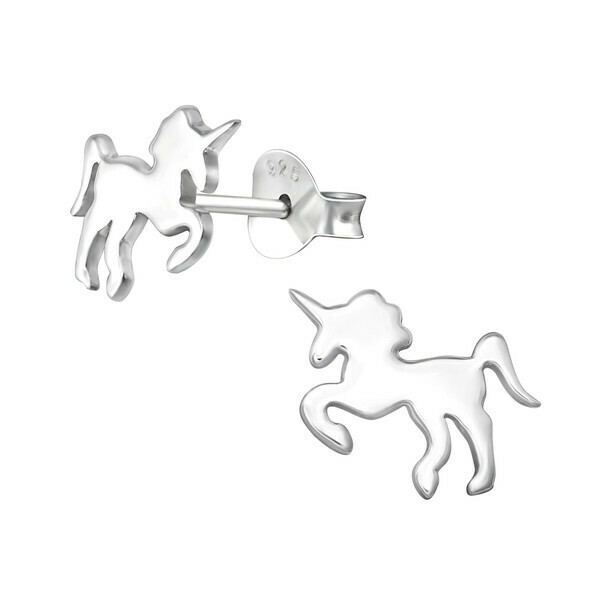 P39-21 Sterling Silver Unicorn Posts