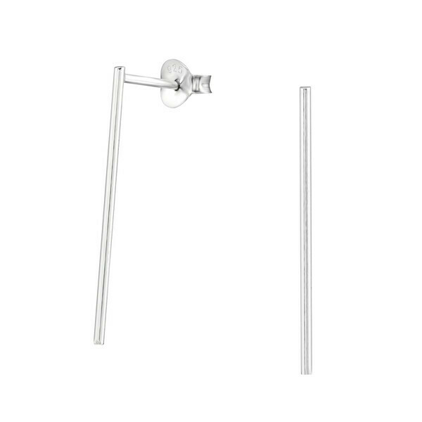 P27-17 Sterling Silver Matchstick Posts