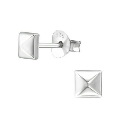 P27-10 Sterling Silver 3D Small Square Posts