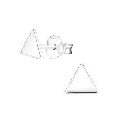 P27-39 Sterling Silver Small Flat Triangle Posts