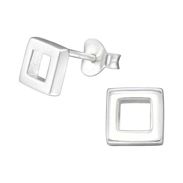 P28-23 Sterling Silver Open Square Posts