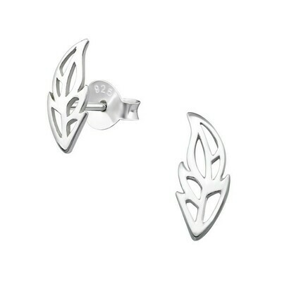 P28-40 Sterling Silver Open Feather Posts