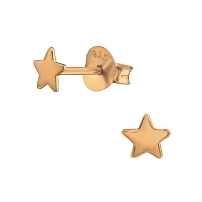 P41-2 Star Posts - Rose Gold Plated Sterling Silver
