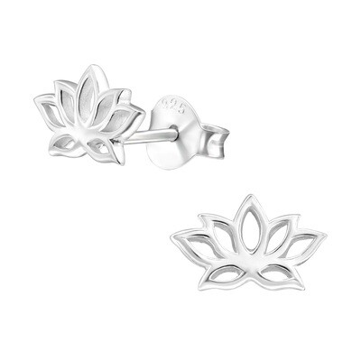 P37-32 Sterling Silver Open Lotus Posts