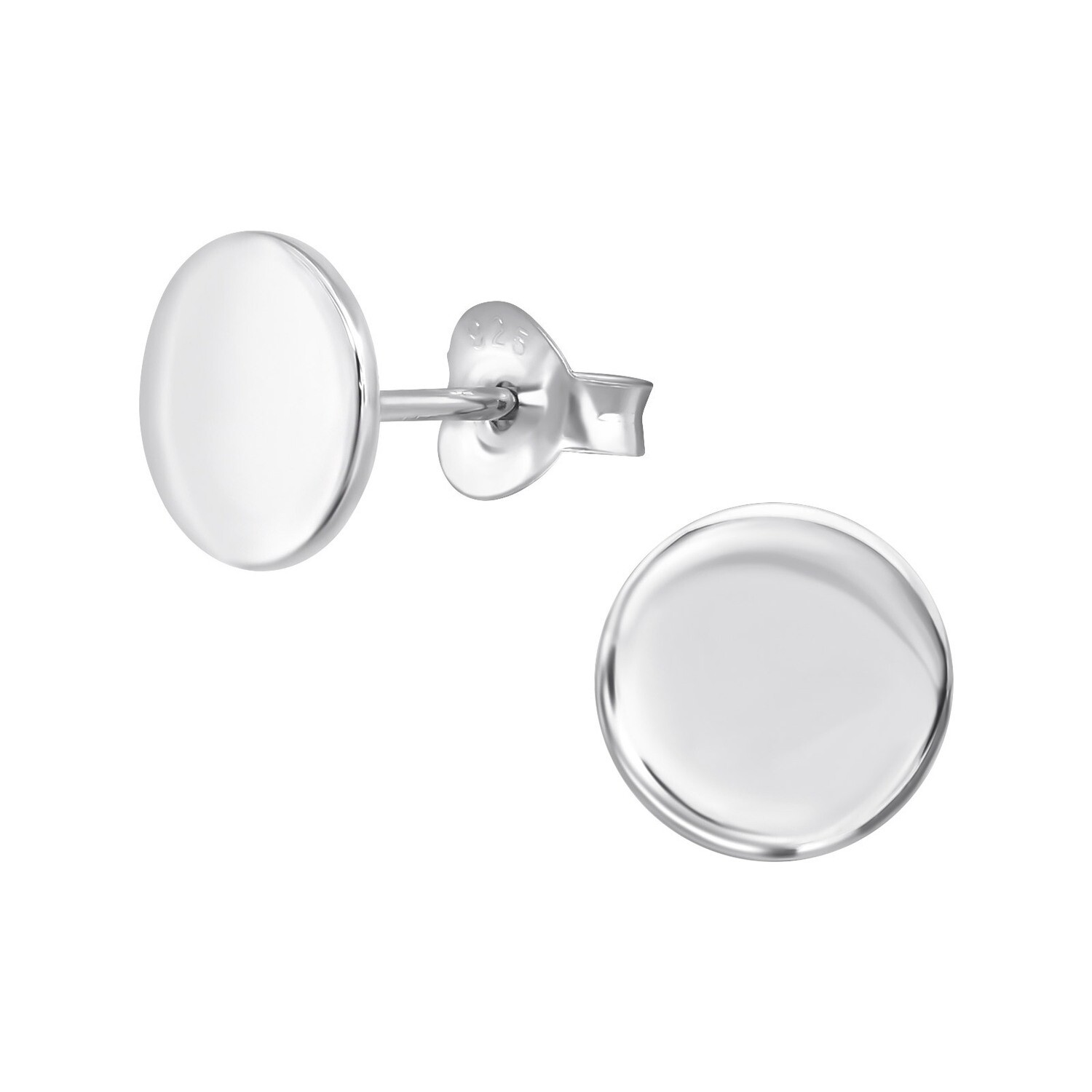 P39-54 Sterling Silver Circle Posts