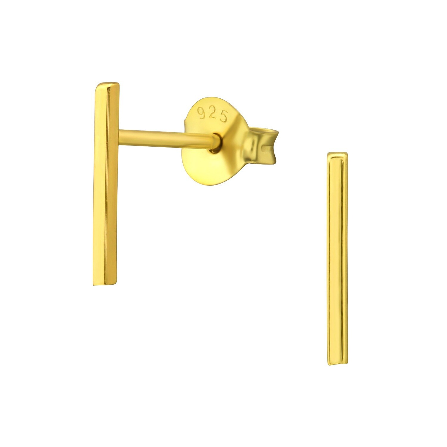 P40-40  Bar Posts - Gold Plated Sterling Silver