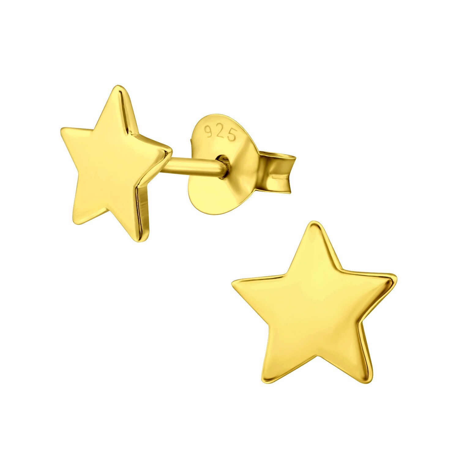 P40-26 Star Posts - Gold Plated Sterling Silver