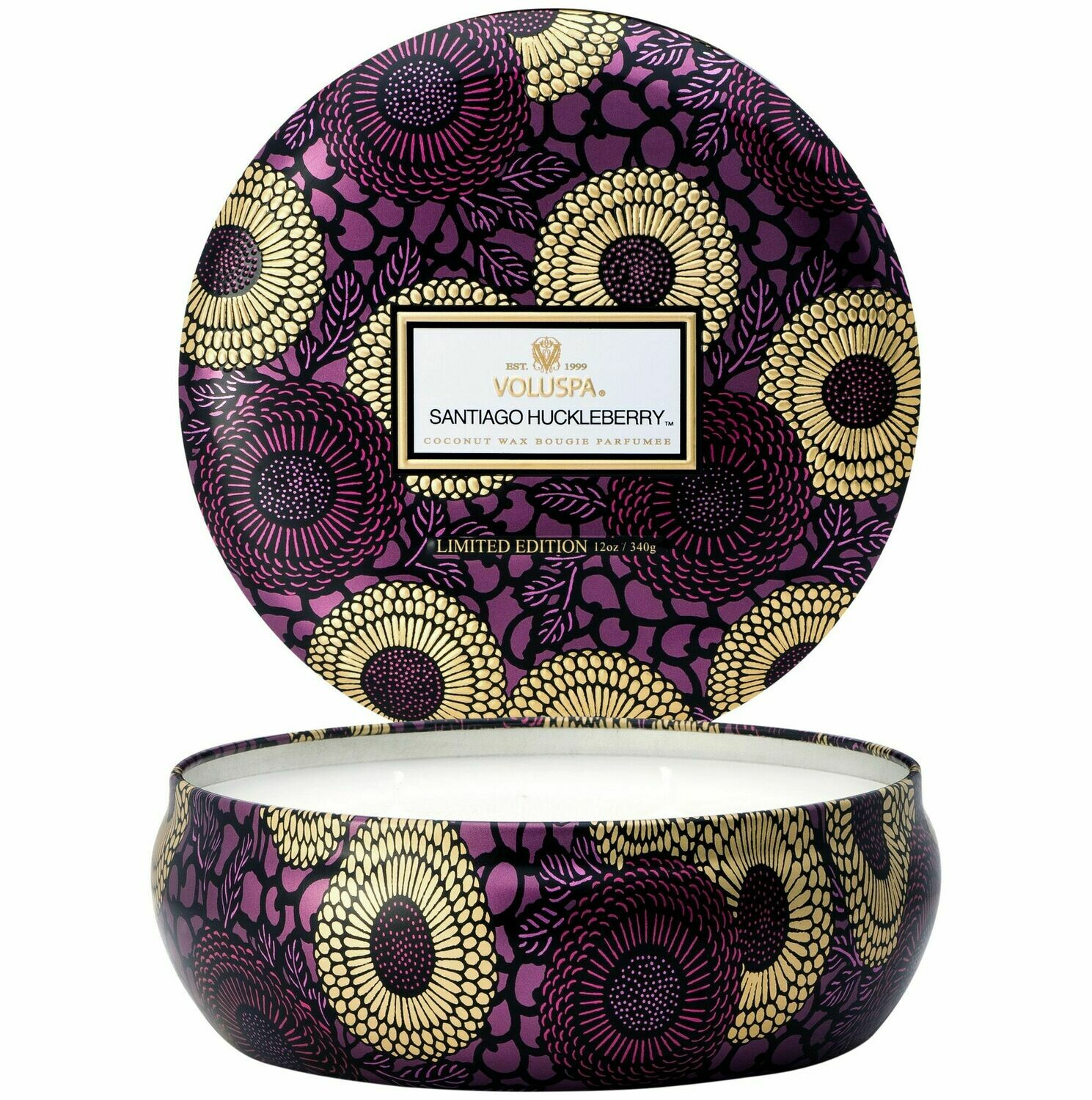 Voluspa 3 Wick Tin Candle - Santiago Huckleberry