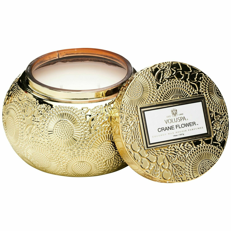 Crane Flower Candle - Voluspa Glass Chawan Bowl