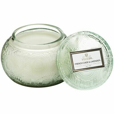 French Cade + Lavender Candle -  Voluspa Glass Chawan Bowl
