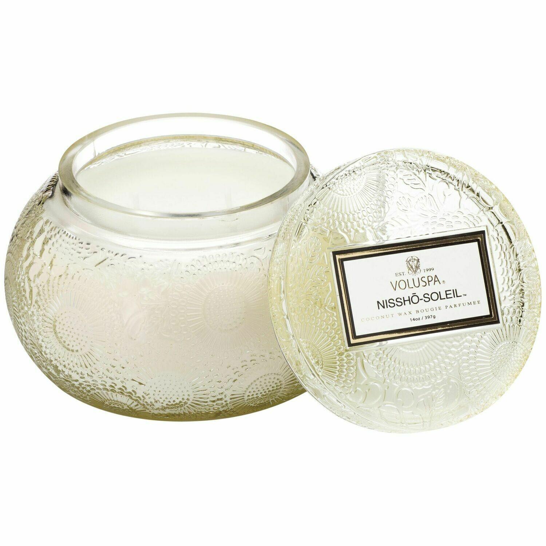 Nissho Soleil Candle - Voluspa Glass Chawan Bowl
