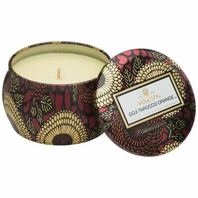 Goji Tarocco Orange Candle - Voluspa Petite Tin Candle