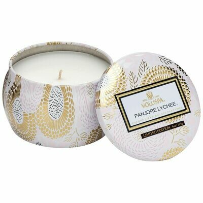 Panjore Lychee Candle - Voluspa Petite Tin Candle