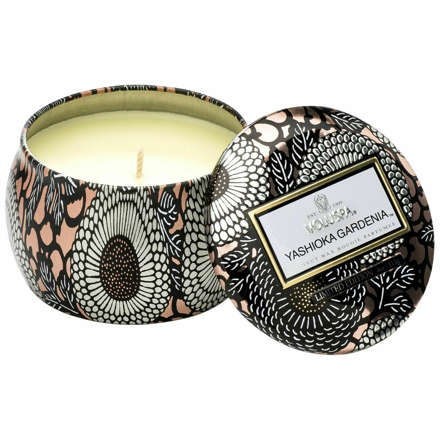 Yashioka Gardenia Candle - Voluspa Petite Tin Candle