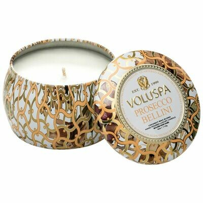 Prosecco Bellini Candle - Voluspa Maison Blanc Petite Tin 4oz