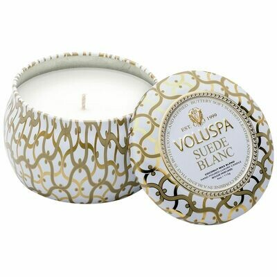 Suede Blanc Candle - Voluspa Maison Blanc Petite Tin 4oz