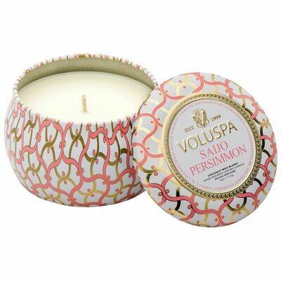 Saijo Persimmon Candle - Voluspa Maison Blanc Petite Tin 4oz