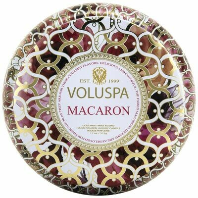Macaron Candle - Voluspa Maison Blanc 2 Wick Tin 11oz