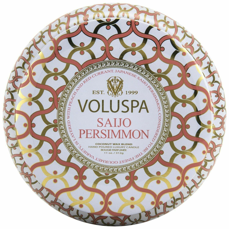 Saijo Persimmon Candle - Voluspa Maison Blanc 2 Wick Tin 11oz