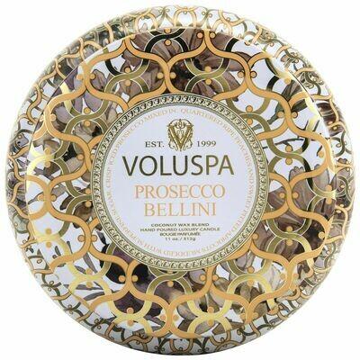 Prosecco Bellini Candle - Voluspa Maison Blanc 2 Wick Tin 11oz