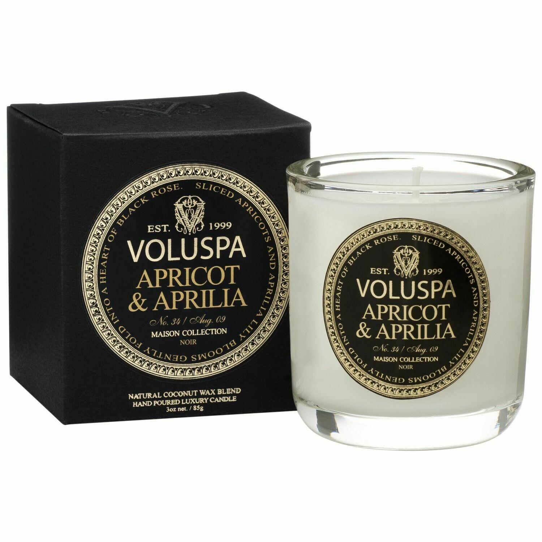 Apricot + Aprila Candle - Voluspa Maison Noir Boxed Votive 3oz