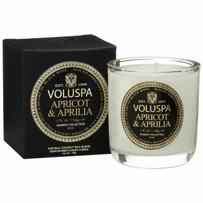 Apricot + Aprila Candle - Voluspa Maison Noir Boxed Votive 3oz