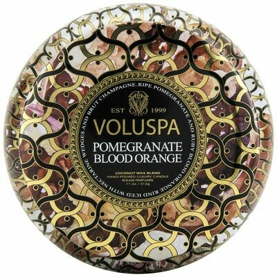 Pomegranate Blood Orange Candle - Voluspa Maison Noir 2 Wick Tin 11oz