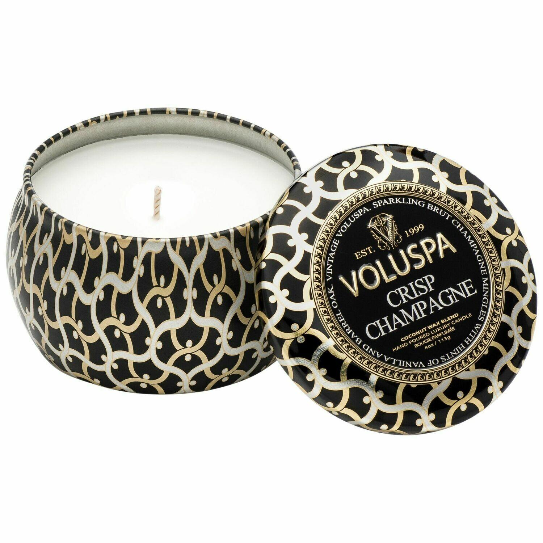 Crisp Champagne Candle - Voluspa Maison Noir Petite Tin 4oz
