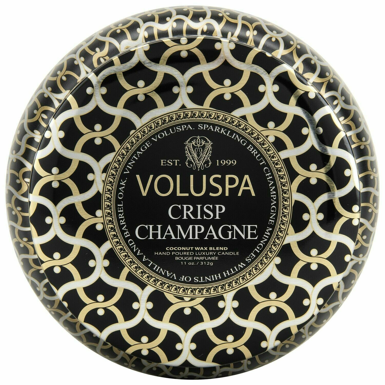 Crisp Champagne Candle - Voluspa Maison Noir 2 Wick Tin 11oz