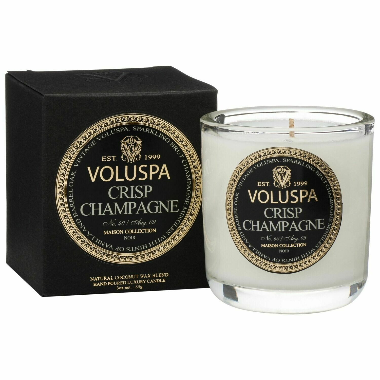 Crisp Champagne Candle - Voluspa Maison Noir Boxed Votive 3oz