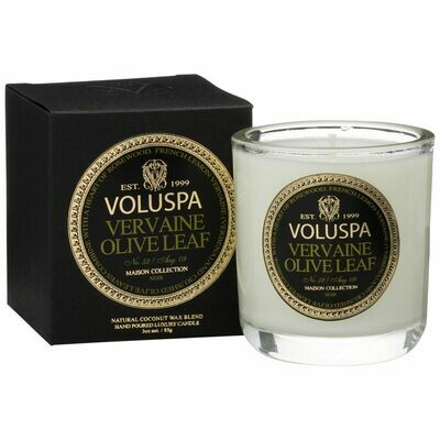 Vervaine Olive Leaf Candle - Voluspa Maison Noir Boxed Votive 3oz