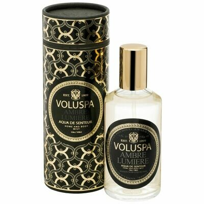 Ambre Lumiere Room + Body Spray - Voluspa Maison Noir Collection