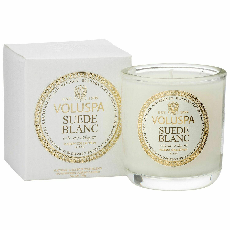 Suede Blanc Candle - Voluspa Maison Blanc Boxed Votive 3oz