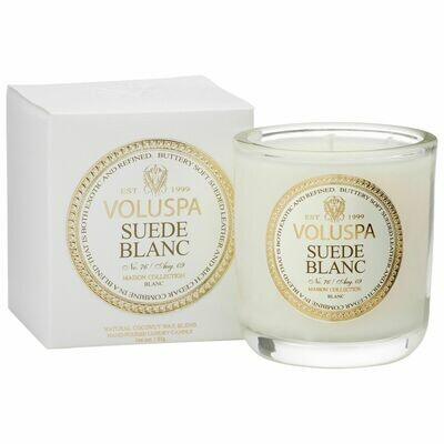 Suede Blanc Candle - Voluspa Maison Blanc Boxed Votive 3oz