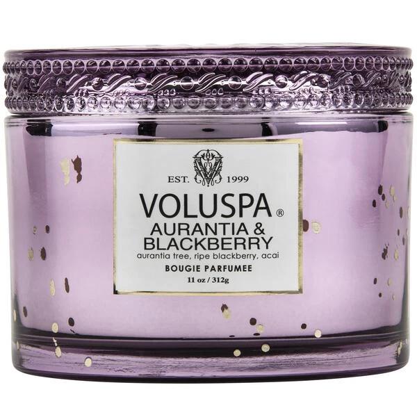 Aurantia + Blackberry Candle -Voluspa Vermeil Corta Maison Candle 11oz