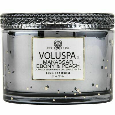 Makassar Ebony + Peach Candle -Voluspa Vermeil Corta Maison Candle 11oz