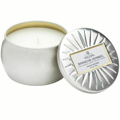 Branche Vermeil Candle - Voluspa Vermeil Petite Tin 4.5oz