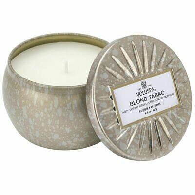 Blond Tabac Candle - Voluspa Vermeil Petite Tin 4.5oz