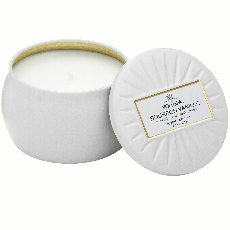 Bourbon Vanille Candle - Voluspa Vermeil Petite Tin 4.5oz