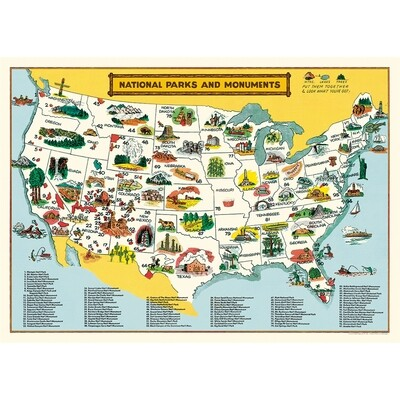 National Parks Map Poster #412