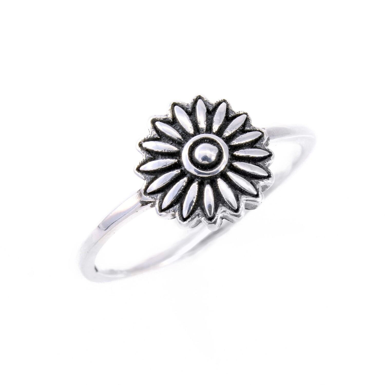 RP3542 Sterling Silver Flower Ring